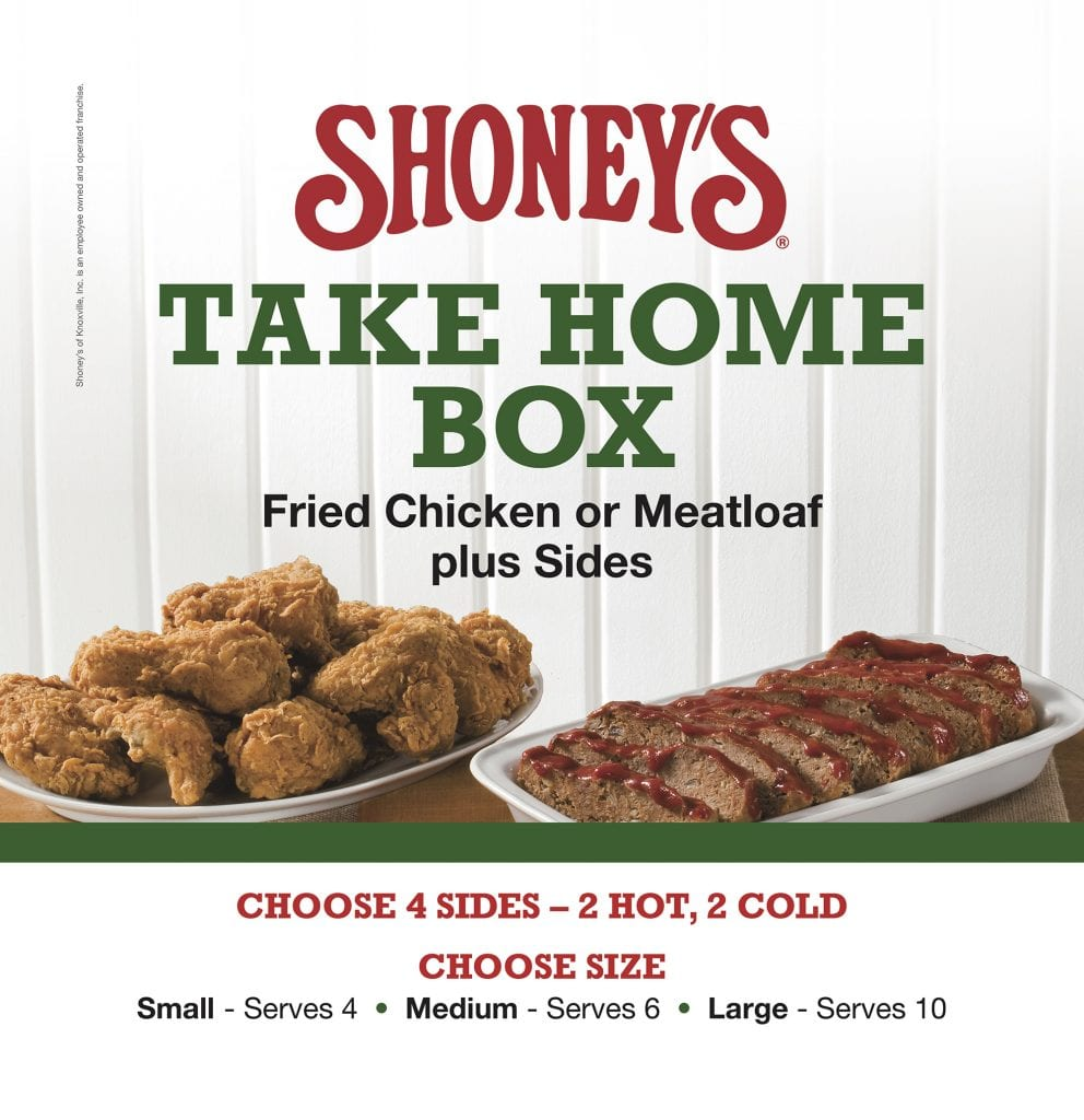 Shoneys In Knoxville Christmas Day Hrs For 2020 Same Great Taste at Your Place | Shoney's of Knoxville, Inc.
